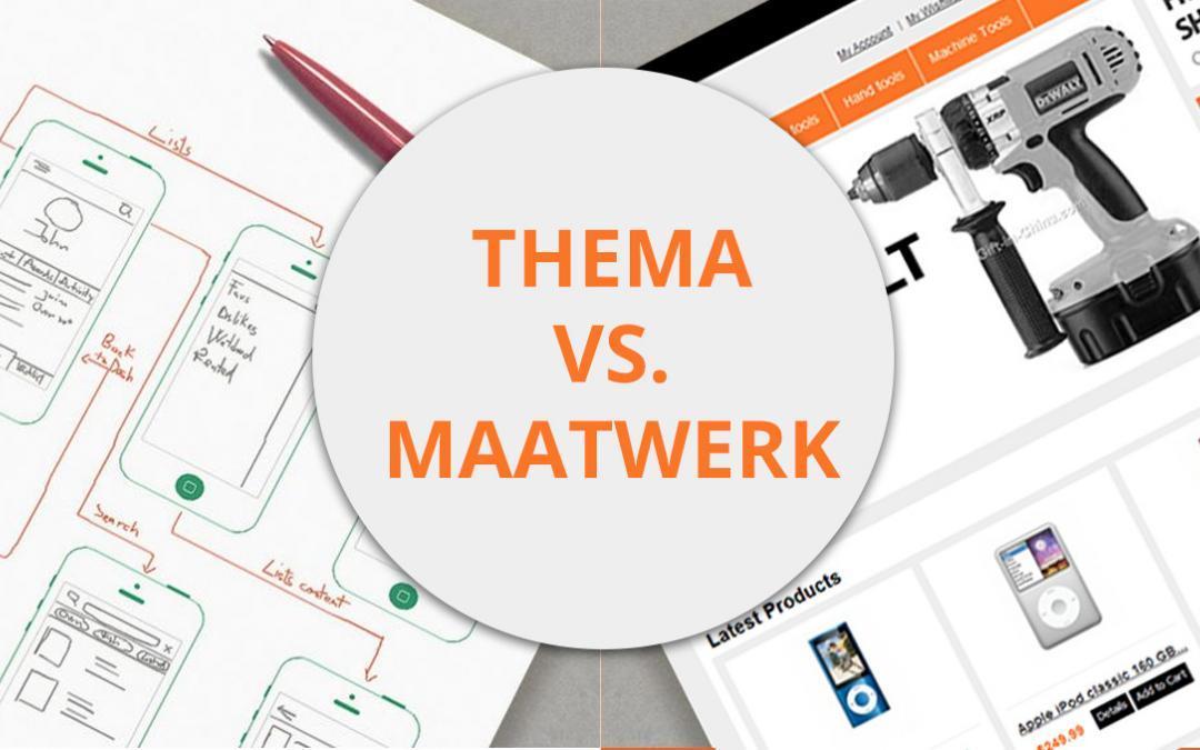Magento webshop: kiezen voor een Magento thema/template of maatwerk?